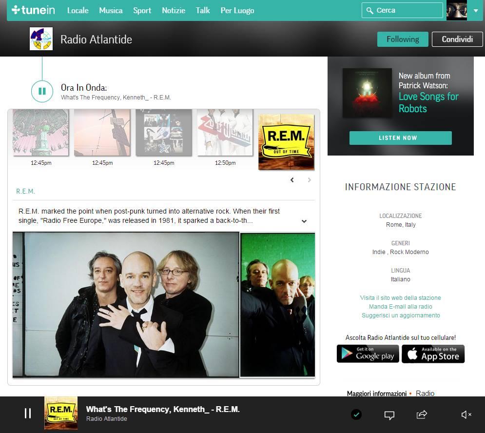 Radio Atlantide su Tunein