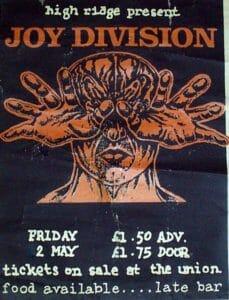 Joy Division Sala Grande Università di Birmingham