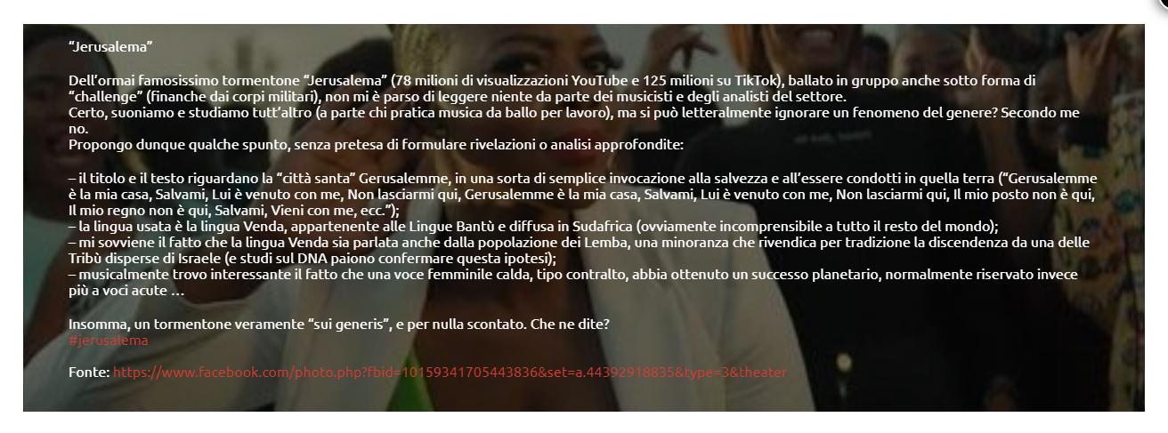 il post di Luca Ruggero Jacovella